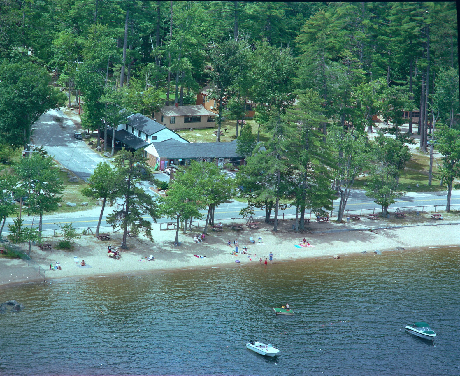 Aerial Photo of Sebago Lake Family Campground