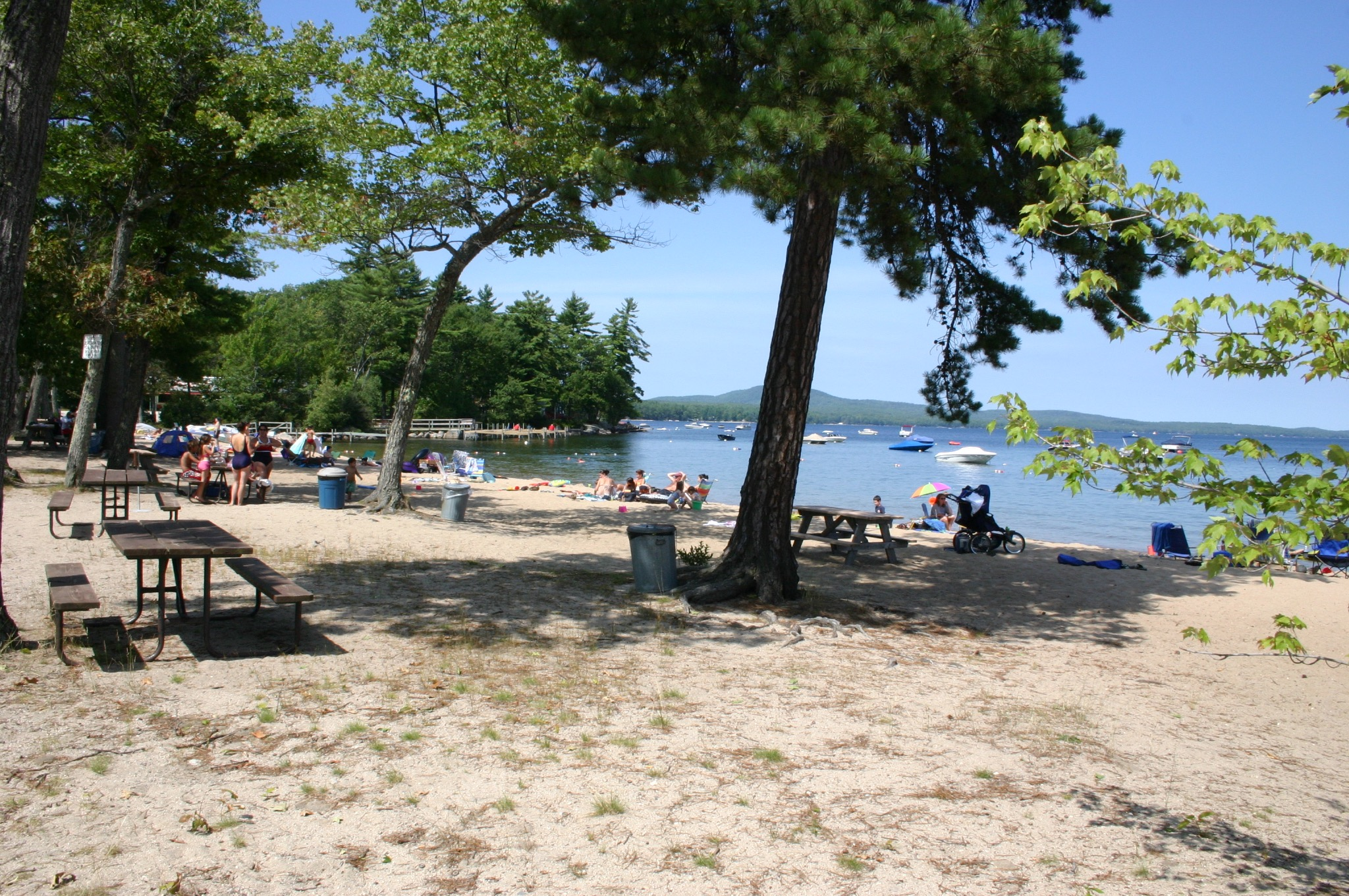 Shade on the Lakeside Beach